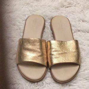 Cole Haan Gold Sandals